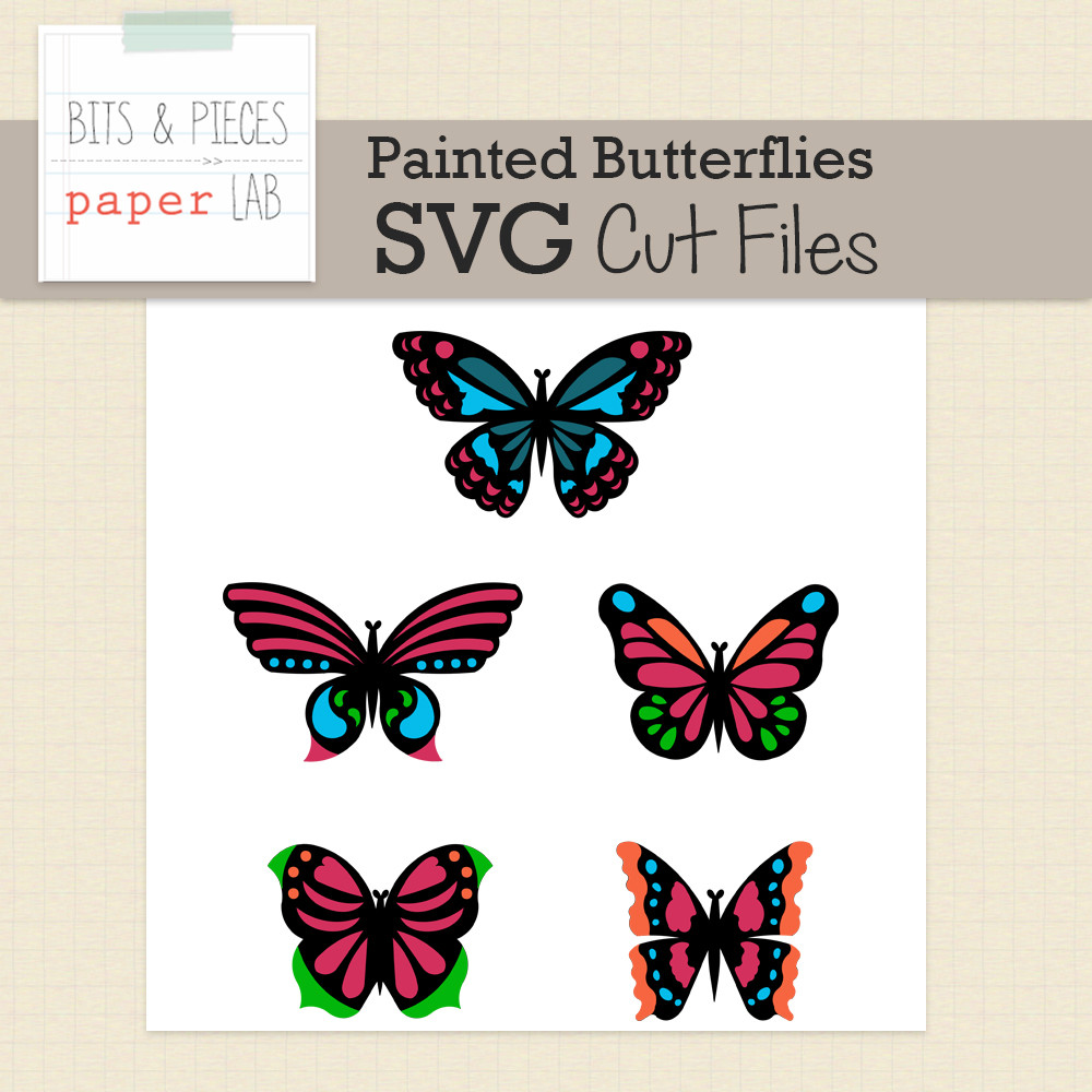 painted butterflies svg cut files snap click supply co