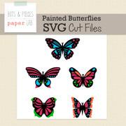 Painted Butterflies SVG Cut Files