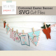Cottontail Easter Banner SVG Cut File