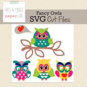 Fancy Owls Cut Files