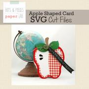 Apple Shaped Card Cut File
