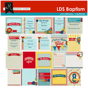 LDS Baptism Journal Cards