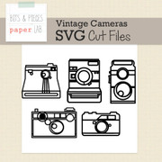 Vintage Camera Line Silhouette Cut Files