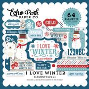 I Love Winter Element Pack 2