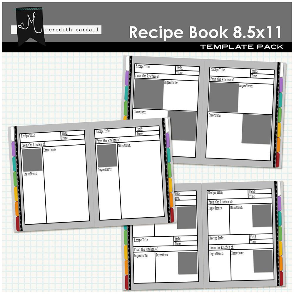 recipe book templates 8 5x11 snap click supply co