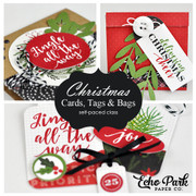 Christmas Cards, Tags, and Bags Self-Paced Workshop