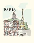 Paris Art Print - 8x10