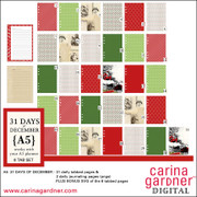 A5 31 Days of December 6 Tabbed Pages Full Set