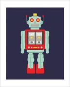 Robot Art Print - 8x10