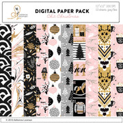 Chic Christmas paper pack
