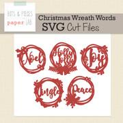Christmas Wreath Words Cut Files