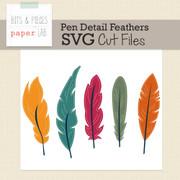 Pen Detail Feather Cut File