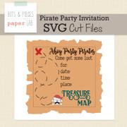 Pirate Invitation Cut File