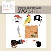 Pirate Supply List Cut Files