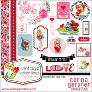 Vintage Valentine's Element Pack