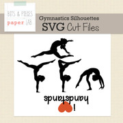 Gymnastics Silhouettes Cut Files