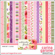Watercolor Florals Paper Pack 1