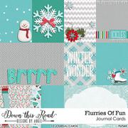 Flurries Of Fun Journal Cards