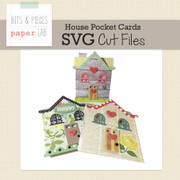 House Pocket Card Cut File