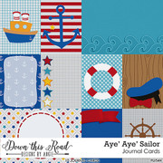Aye' Aye' Sailor Journal Cards