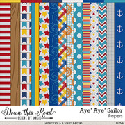 Aye' Aye' Sailor Paper Pack