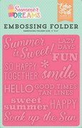 Summer Dreams Embossing Folder - Summer is Sweet