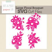 Large Floral Bouquet Cut Files
