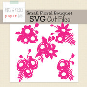 Small Floral Bouquet Cut Files