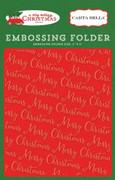 A Very Merry Christmas Embossing Folder - Merry Christmas