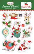 A Very Merry Christmas Enamel Shapes