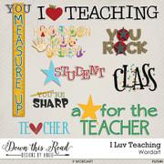 I LUV Teaching Word Art