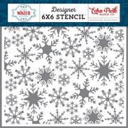 Sweet Snowflakes Stencil