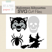 Halloween Silhouettes Cut Files