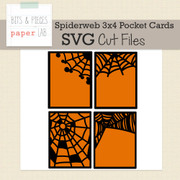 Spiderweb Pocket Card Cut Files