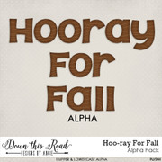 Hoo-ray For Fall Alpha Pack
