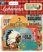 Cowboy Country Frames & Tags Ephemera