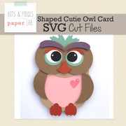 Cutie Owl Shaped Card Cut Files