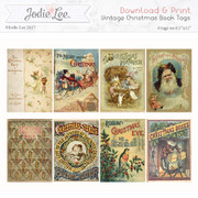 Printable Christmas Tags - Vintage Christmas Books