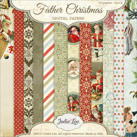 Father Christmas Digital Papers
