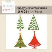 Funky Christmas Trees Cut File Set