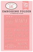 Sweet Baby Girl Embossing Folder - Precious Baby