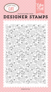 Bundle of Joy Floral Background Stamp