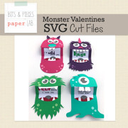 Monster Valentines Cut Files