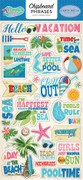 Summer Splash Chipboard Phrases