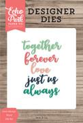 Love Always Word Die Set
