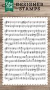 Sheet Music Background Stamp