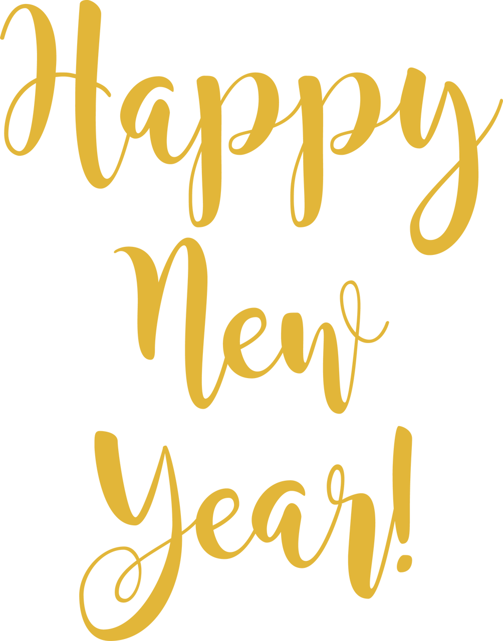 Happy New Year SVG Cut File - Snap Click Supply Co.