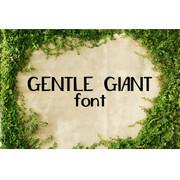 Gentle Giant Font