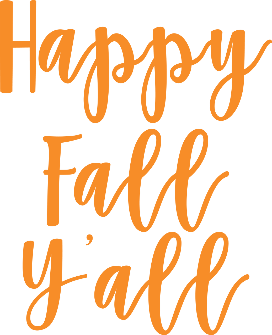 It is a graphic of Effortless Happy Fall Yall Printable