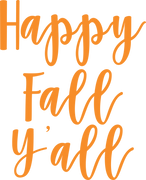 Happy Fall Y'all SVG Cut File